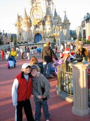 Disney with the kids 6 or 7 years ago