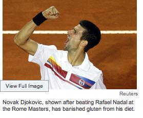 Novak Djokovic in Wall Street Journal