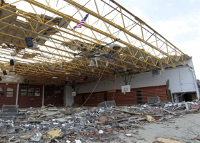 Henryville High School Gym -Credit  AP Michael Conroy
